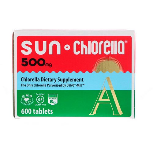 Sun Chlorella, Sun Chlorella A, 500 mg, 600 Tablets Review