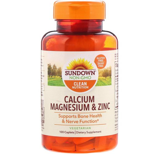 Sundown Naturals, Calcium Magnesium & Zinc, 100 Caplets Review