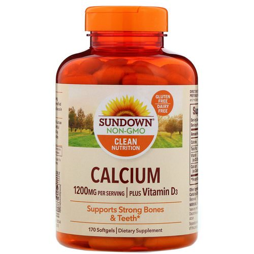 Sundown Naturals, Calcium Plus Vitamin D3, 1200 mg, 170 Softgels Review