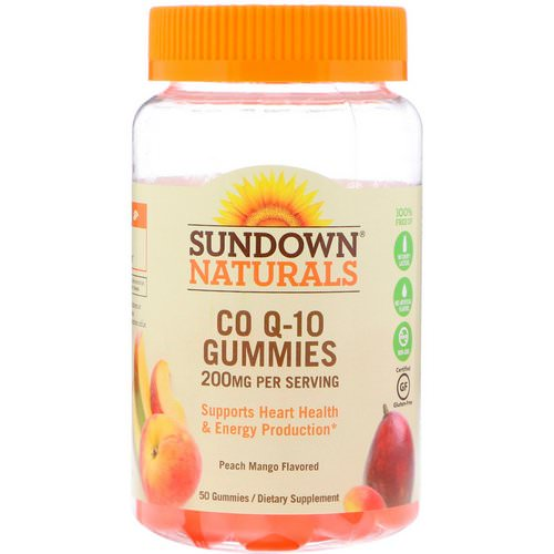 Sundown Naturals, Co Q-10 Gummies, Peach Mango Flavored, 200 mg, 50 Gummies Review