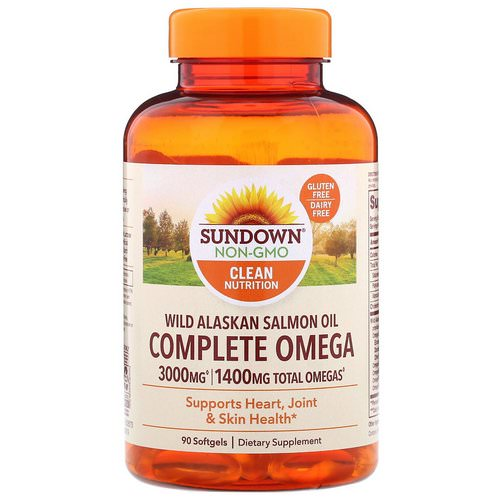 Sundown Naturals, Complete Omega, Wild Alaskan Salmon Oil, 1400 mg, 90 Softgels Review