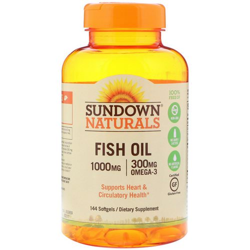 Sundown Naturals, Fish Oil, 1000 mg, 144 Softgels Review
