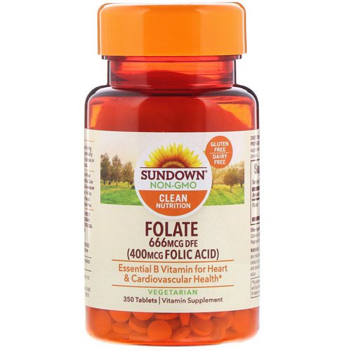 Sundown Naturals, Folate, 666 mcg DFE, 350 Tablets Review