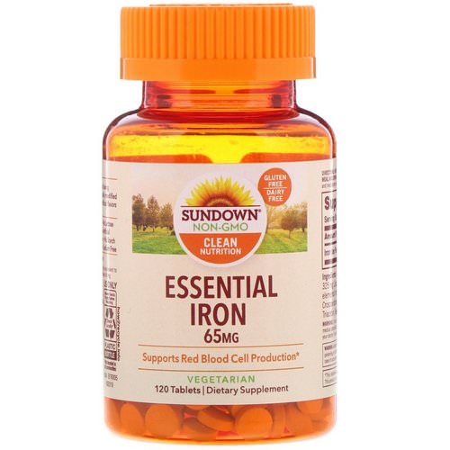 Sundown Naturals, Essential Iron, 65 mg, 120 Tablets Review