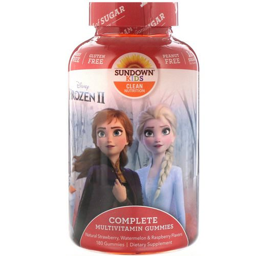 Sundown Naturals Kids, Complete Multivitamin Gummies, Disney Frozen II, Strawberry, Watermelon & Raspberry, 180 Gummies Review