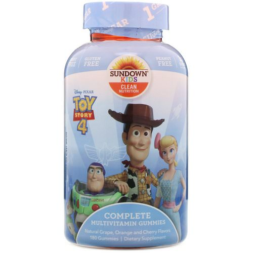 Sundown Naturals Kids, Complete Multivitamin Gummies, Toy Story 4, Grape, Orange & Cherry Flavored, 180 Gummies Review