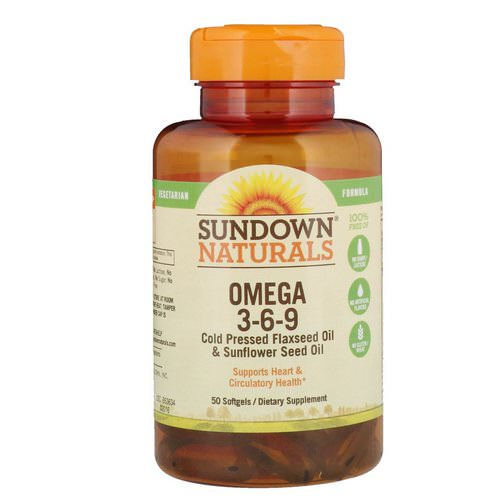 Sundown Naturals, Omega 3-6-9, 50 Softgels Review