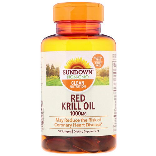 Sundown Naturals, Red Krill Oil, 1000 mg, 60 Softgels Review