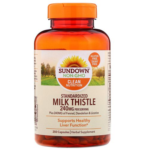 Sundown Naturals, Standardized Milk Thistle, 240 mg, 250 Capsules Review
