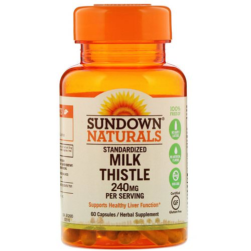 Sundown Naturals, Standardized Milk Thistle, 240 mg, 60 Capsules Review