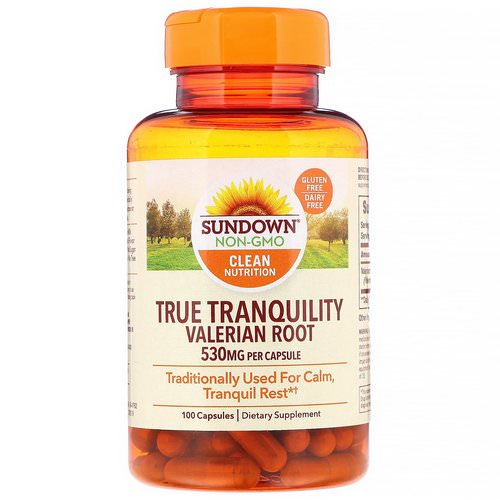 Sundown Naturals, True Tranquility, Valerian Root, 530 mg, 100 Capsules Review