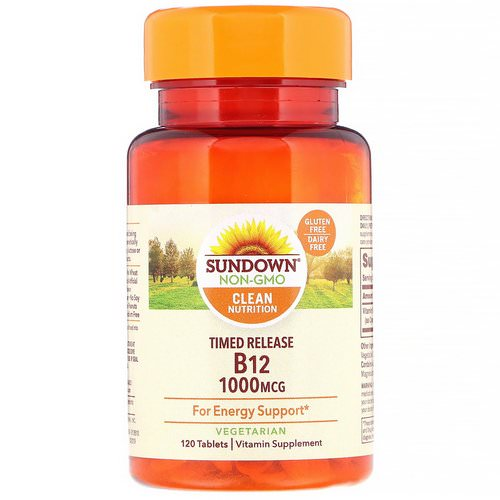 Sundown Naturals, Vitamin B12, 1000 mcg, 120 Tablets Review