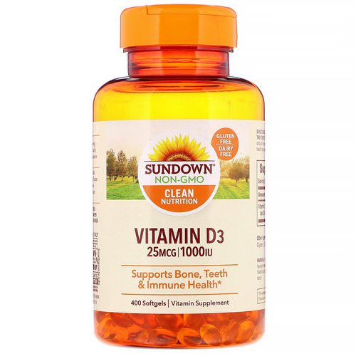 Sundown Naturals, Vitamin D3, 25 mcg (1,000 IU), 400 Softgels Review