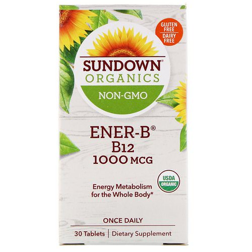Sundown Organics, Ener-B, B12, 1000 mcg, 30 Tablets Review