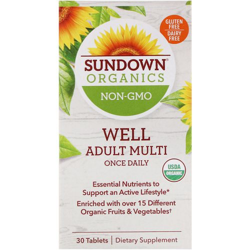 Sundown Organics, Well Adult Multi, Once Daily, 30 Tablets Review