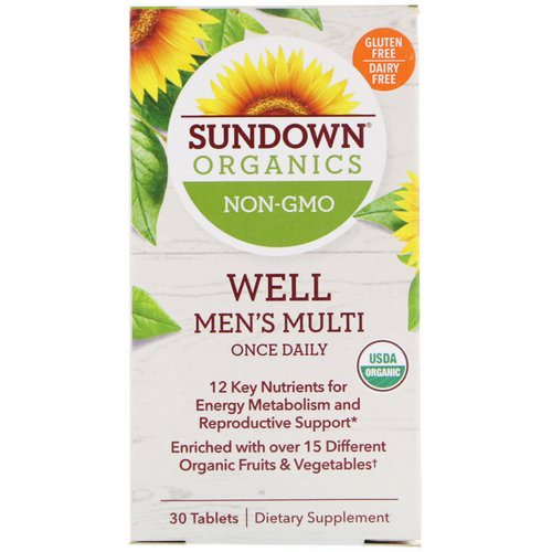 Sundown Organics, Well Men's Multivitamin, Once Daily, 30 Tablets Review