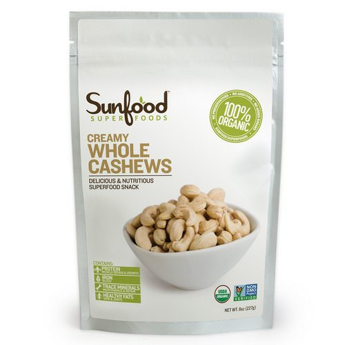 Sunfood, Creamy Whole Cashews, 8 oz (227 g) Review