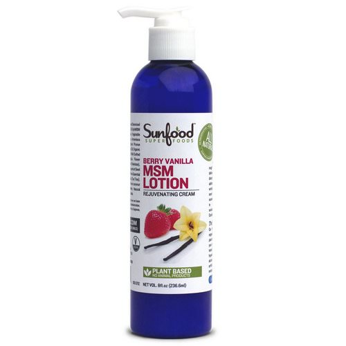 Sunfood, MSM Lotion, Rejuvenating Cream, Berry Vanilla, 8 fl oz (236.6 ml) Review