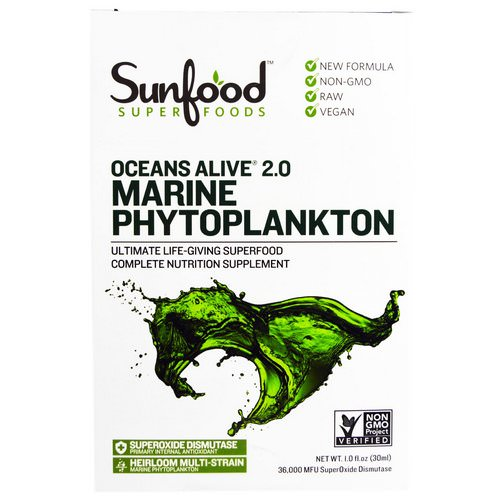 Sunfood, Ocean's Alive 2.0 Marine Phytoplankton, 1 fl oz (30 ml) Review