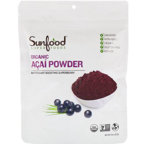 Sunfood, Organic Acai Powder, 8 oz (227 g) Review