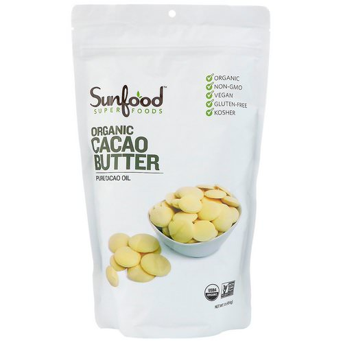 Sunfood, Organic Cacao Butter, 1 lb (454 g) Review