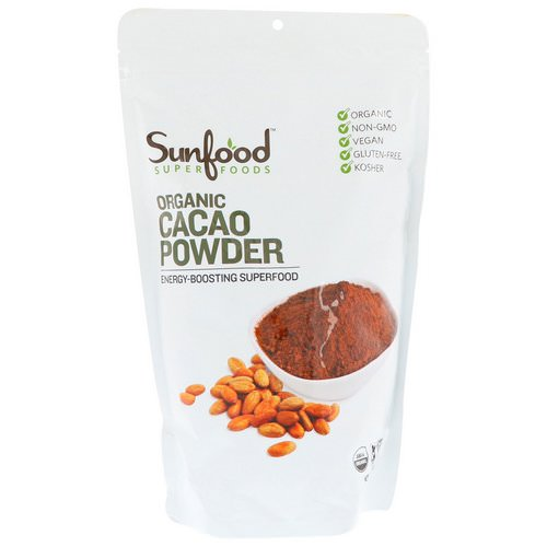 Sunfood, Organic Cacao Powder, 1 lb (454 g) Review