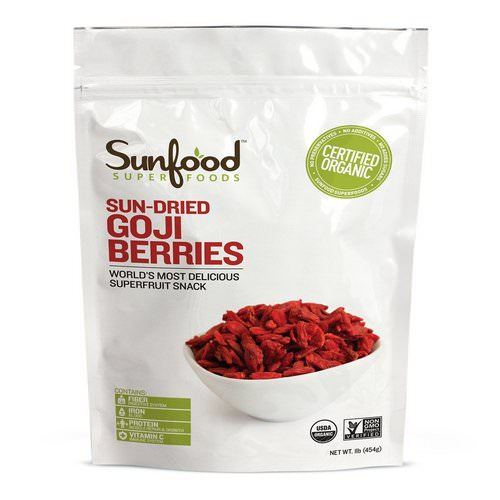 Sunfood, Organic, Sun-Dried Goji Berries, 1 lb (454 g) Review
