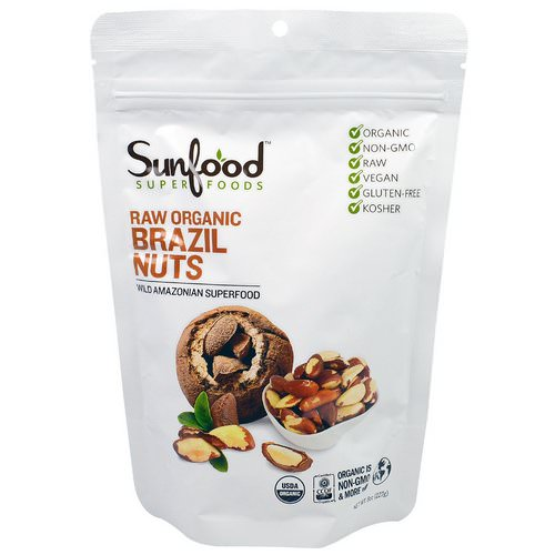 Sunfood, Raw Organic Brazil Nuts, 8 oz (227 g) Review