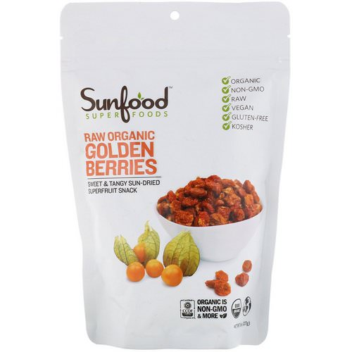 Sunfood, Raw Organic Golden Berries, 8 oz (227 g) Review