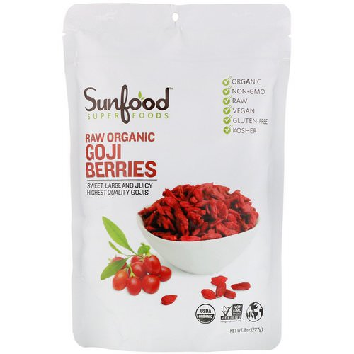 Sunfood, Raw Organic Goji Berries, 8 oz (227 g) Review