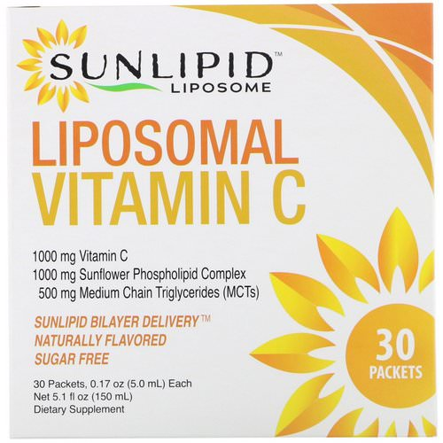 SunLipid, Liposomal Vitamin C, Naturally Flavored, 30 Packets, 0.17 oz (5.0 ml) Each Review