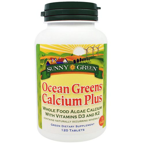 Sunny Green, Ocean Greens Calcium Plus, 120 Tablets Review