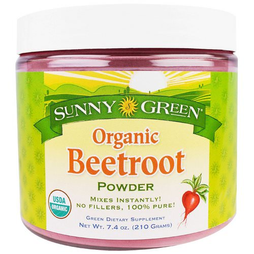 Sunny Green, Organic Beetroot Powder, 7.4 oz (210 g) Review