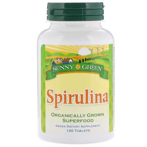 Sunny Green, Spirulina, 120 Tablets Review