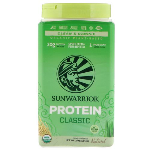 Sunwarrior, Classic Protein, Organic Plant-Based, Natural, 1.65 lb (750 g) Review