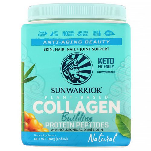 Sunwarrior, Collagen Building Protein Peptides, Natural, 17.6 oz (500 g) Review