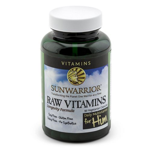 Sunwarrior, Raw Vitamins, Daily Multivitamin for Him, 90 Veggie Caps Review