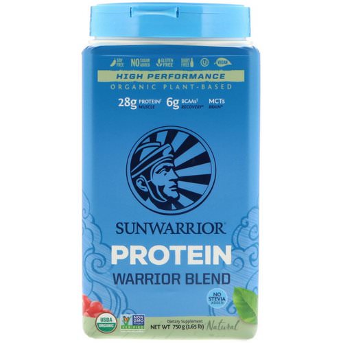 Sunwarrior, Warrior Blend Protein, Organic Plant-Based, Natural, 1.65 lb (750 g) Review