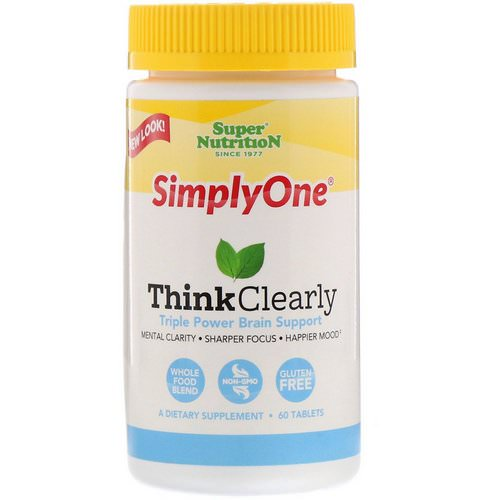Super Nutrition, SimplyOne, Think Clearly, Triple Power Brain Support, 60 Tablets Review
