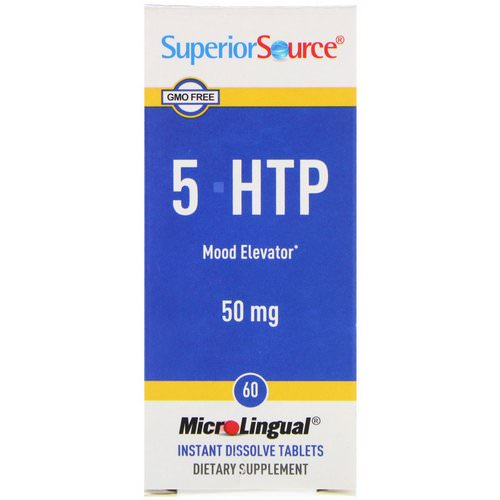 Superior Source, 5-HTP, 50 mg, 60 MicroLingual Instant Dissolve Tablets Review