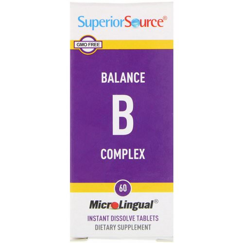 Superior Source, Balance B Complex, 60 MicroLingual Instant Dissolve Tablets Review