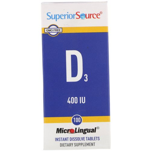 Superior Source, D3, 400 IU, 100 MicroLingual Instant Dissolve Tablets Review
