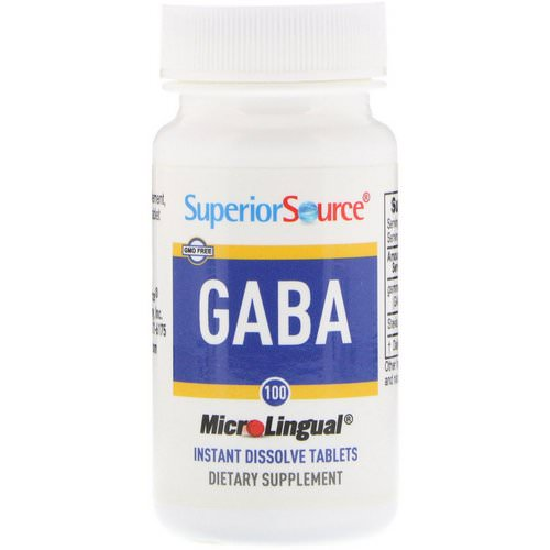 Superior Source, GABA, 100 mg, 100 MicroLingual Instant Dissolve Tablets Review