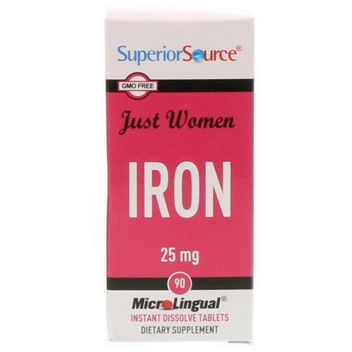 Superior Source, Just Women, Iron, 25 mg, 90 Microlingual Instant Dissolve Tablets Review