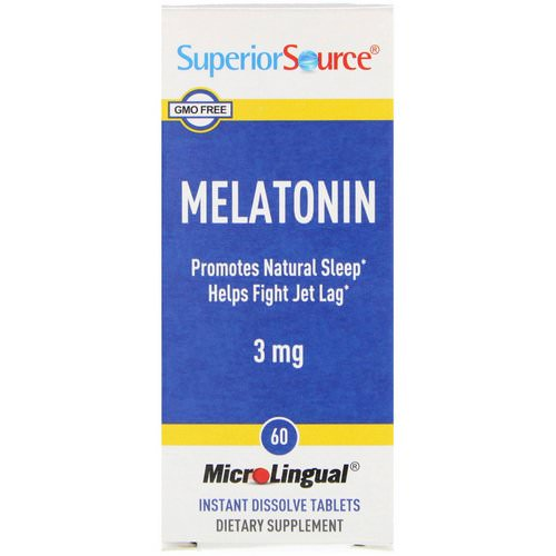 Superior Source, Melatonin, 3 mg, 60 MicroLingual Instant Dissolve Tablets Review