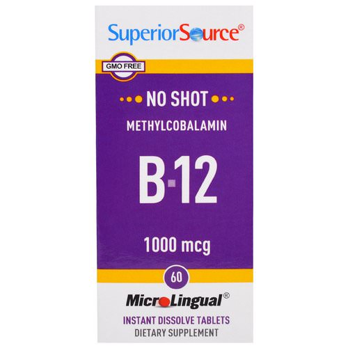 Superior Source, Methylcobalamin B-12, 1000 mcg, 60 MicroLingual Instant Dissolve Tablets Review