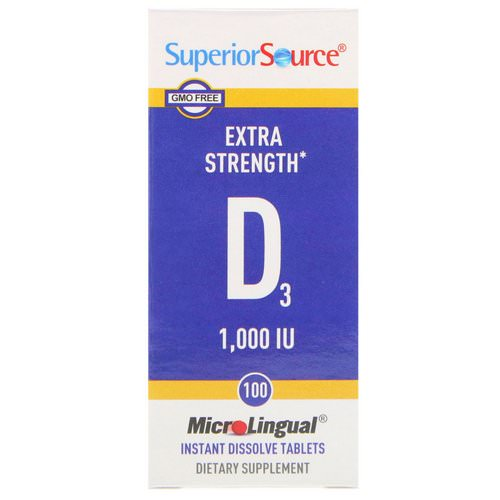 Superior Source, Extra Strength Vitamin D3, 1,000 IU, 100 MicroLingual Instant Dissolve Tablets Review