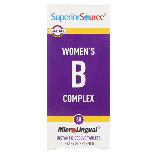Superior Source, Women's B Complex, 60 MicroLingual Instant Dissolve Tablets Review