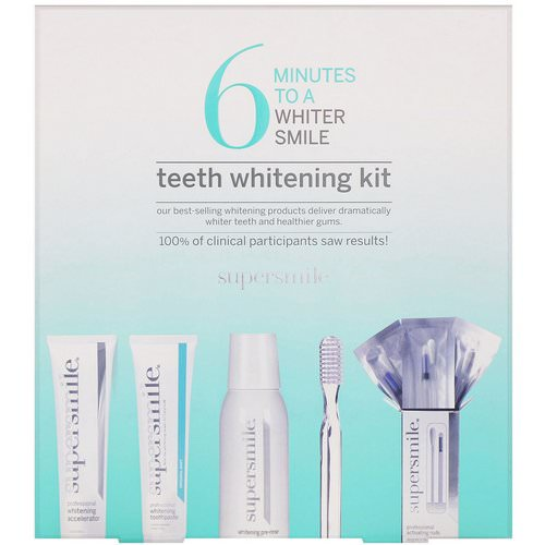 Supersmile, 6 Minutes to a Whiter Smile, Teeth Whitening Kit, 5 Piece Kit Review