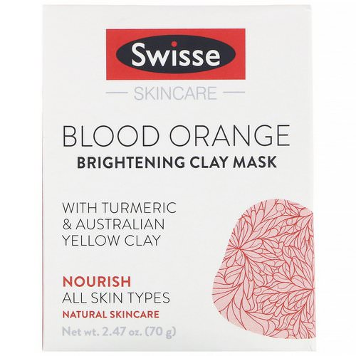 Swisse, Skincare, Blood Orange Brightening Clay Mask, 2.47 oz (70 g) Review